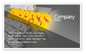 Consulting: Success Motivation Business Card Template #08080