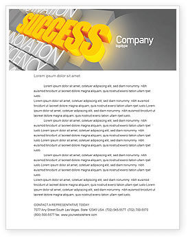 Consulting: Success Motivation Letterhead Template #08080