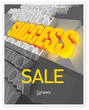 Success Motivation Sale Poster Template, 08080, Consulting — PoweredTemplate.com