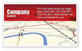 Road Map Business Card Template
