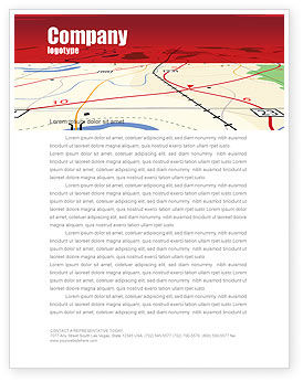 Road Map Letterhead Template, 08109, Careers/Industry — PoweredTemplate.com