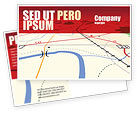 Careers/Industry: Road Map Postcard Template #08109