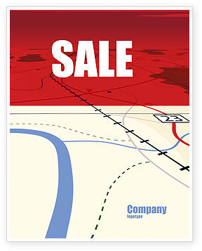 Careers/Industry: Road Map Sale Poster Template #08109
