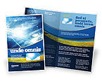 Technology, Science & Computers: Solar Panels In Blue Colors Brochure Template #08112