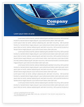 Technology, Science & Computers: Solar Panels In Blue Colors Letterhead Template #08112