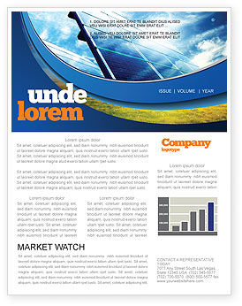 Solar Panels In Blue Colors Newsletter Template