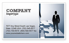 Career Stages Business Card Template, 08120, Careers/Industry — PoweredTemplate.com