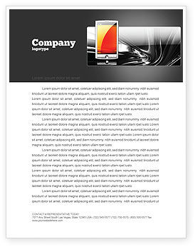 Touchscreen Phone Letterhead Template, 08125, Technology, Science & Computers — PoweredTemplate.com