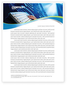 Technology, Science & Computers: Typing Letterhead Template #08139