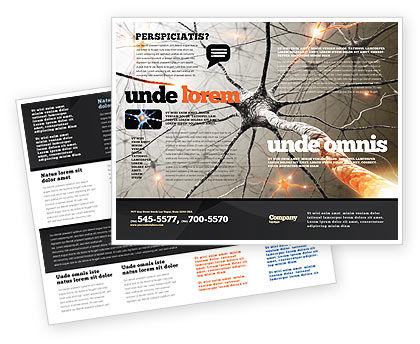 Neurons Networks Brochure Template, 08156, Medical — PoweredTemplate.com