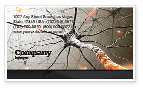 Neurons Networks Business Card Template, 08156, Medical — PoweredTemplate.com