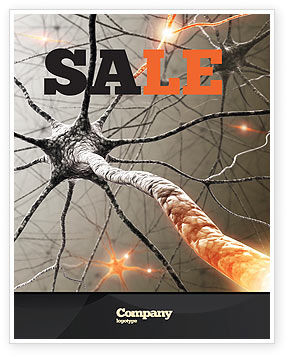 Neurons Networks Sale Poster Template
