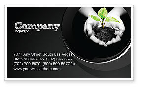 Sprout In Hands Business Card Template