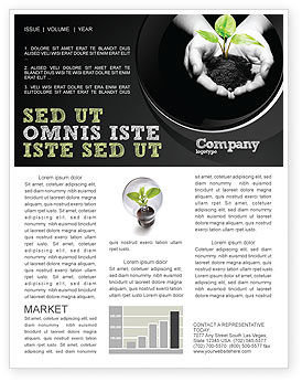 Agriculture and Animals: Sprout In Hands Newsletter Template #08162