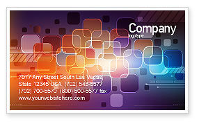 Color Collage Business Card Template, 08167, Abstract/Textures — PoweredTemplate.com