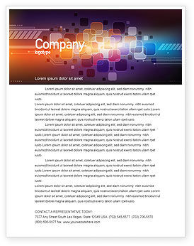Color Collage Letterhead Template, 08167, Abstract/Textures — PoweredTemplate.com