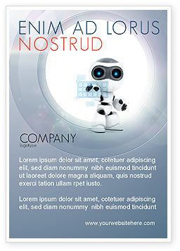 Technology, Science & Computers: Robot Model Advertentie Template #08181