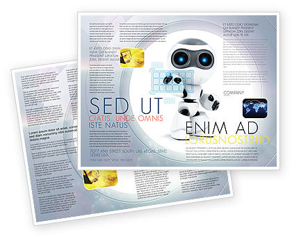 Robot Model Brochure Template, 08181, Technology, Science & Computers — PoweredTemplate.com
