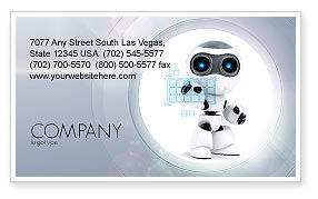 Technology, Science & Computers: Robot Model Business Card Template #08181