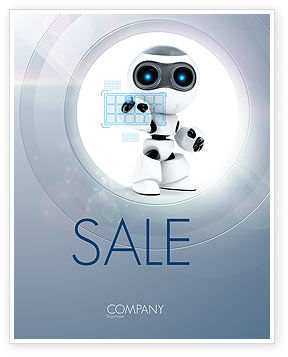 Robot Model Sale Poster Template