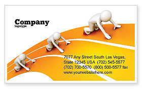 Education & Training: Sprint Runners Business Card Template #08194