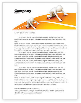 Education & Training: Sprint Runners Letterhead Template #08194
