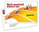 Education & Training: Sprint Runners Postcard Template #08194