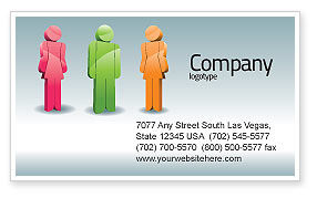 Telecommunication: Speech Bubbles Business Card Template #08198