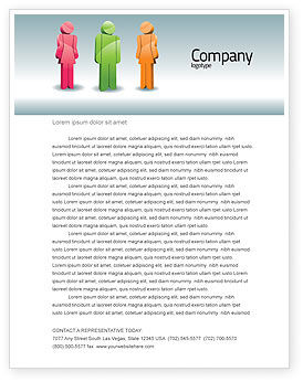 Speech Bubbles Letterhead Template, 08198, Telecommunication — PoweredTemplate.com