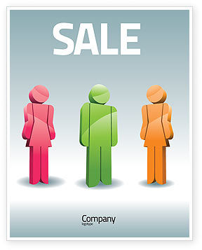 Telecommunication: Speech Bubbles Sale Poster Template #08198