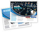 Technology, Science & Computers: Network Community Brochure Template #08199