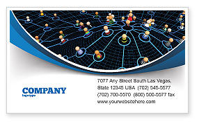 Technology, Science & Computers: Network Community Business Card Template #08199