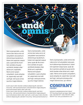 Technology, Science & Computers: Network Community Flyer Template #08199