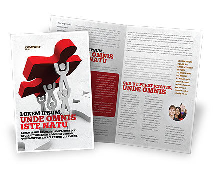 Jigsaw Lifting Brochure Template#1