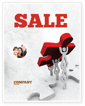 Abstract/Textures: Jigsaw Lifting Sale Poster Template #08200