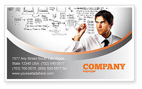 Consulting: Business Success Planning Business Card Template #08235