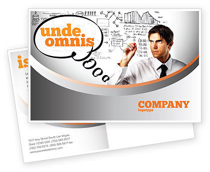 Consulting: Business Success Planning Postcard Template #08235