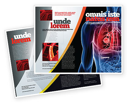 lung cancer brochure template design and layout download now 08239