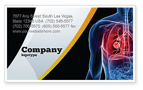 Lung Cancer Business Card Template, 08239, Medical — PoweredTemplate.com