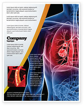 Lung Cancer Flyer Template, 08239, Medical — PoweredTemplate.com