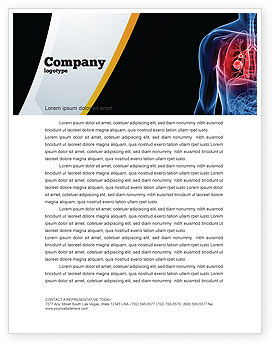 Medical: Lung Cancer Letterhead Template #08239