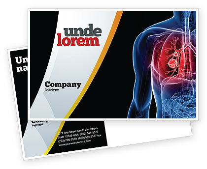 Medical: Lung Cancer Postcard Template #08239