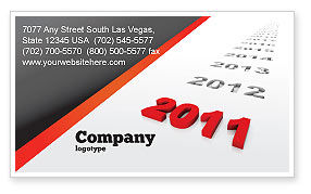 Consulting: Upcoming Decade Business Card Template #08273
