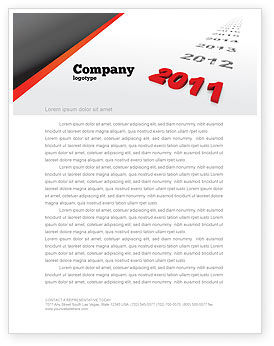 Upcoming Decade Letterhead Template, 08273, Consulting — PoweredTemplate.com