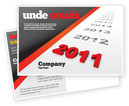 Upcoming Decade Postcard Template, 08273, Consulting — PoweredTemplate.com