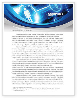 Technology, Science & Computers: People's Network Letterhead Template #08275