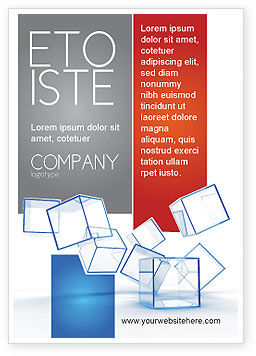Glass Cubes Ad Template, 08276, Business — PoweredTemplate.com