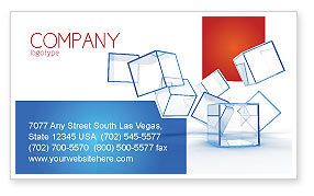 Glass Cubes Business Card Template, 08276, Business — PoweredTemplate.com