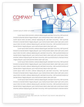 Business: Glass Cubes Letterhead Template #08276