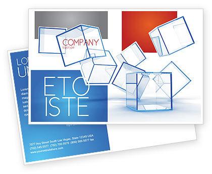 Business: Modello Cartolina - Cubi di vetro #08276